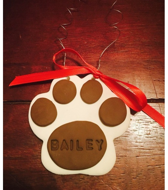 Clay paw print Ornament or Keepsake